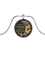 As Long As I Breathe You'll Be Remembered Metallic Circle Necklace front