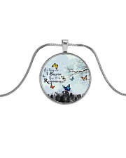 As Long As I Breathe You'll Be Remembered Metallic Circle Necklace thumbnail