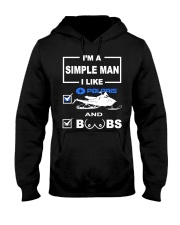 Snowmobile - Polaris  Hooded Sweatshirt front