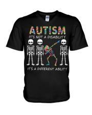 Autism It's NOT A DISABILITY V-Neck T-Shirt thumbnail