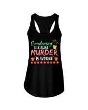 Gardening Because Murder Is Wrong Ladies Flowy Tank thumbnail