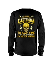 I'm Never Wrong Electrician T-Shirt Long Sleeve Tee tile