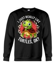 I LIKE TURTLES Crewneck Sweatshirt thumbnail