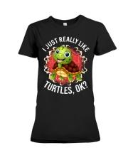 I LIKE TURTLES Premium Fit Ladies Tee thumbnail