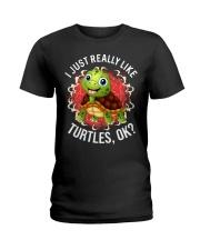I LIKE TURTLES Ladies T-Shirt thumbnail