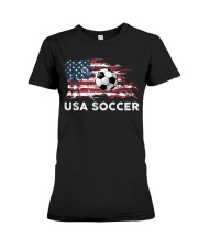 USA SOCCER TEAM Premium Fit Ladies Tee thumbnail
