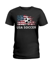 USA SOCCER TEAM Ladies T-Shirt thumbnail