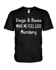 DOGS AND BEES V-Neck T-Shirt thumbnail