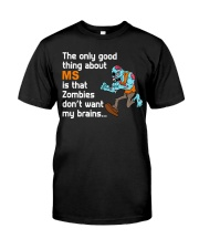 Funny Multiple Sclerosis Halloween Classic T-Shirt front