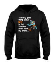Funny Multiple Sclerosis Halloween Hooded Sweatshirt thumbnail