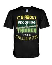 Mathematical Thinker V-Neck T-Shirt thumbnail
