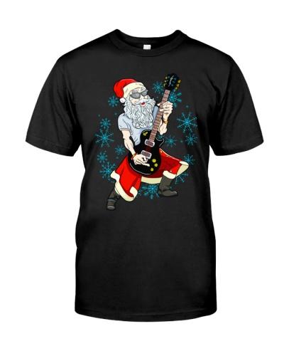 Santa Guitar Player Christmas