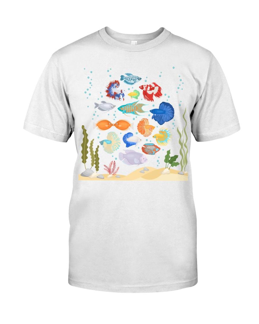 Aquarium fishes betta gourami Classic T-Shirt
