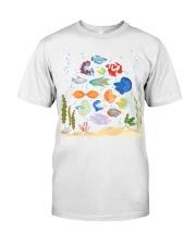 Aquarium fishes betta gourami Classic T-Shirt front