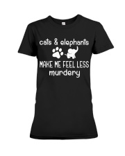 CATS AND ELEPHANTS Premium Fit Ladies Tee thumbnail