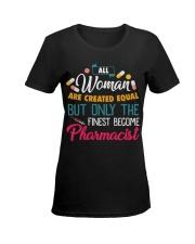 Women Equal but PHARMACIST Ladies T-Shirt women-premium-crewneck-shirt-front