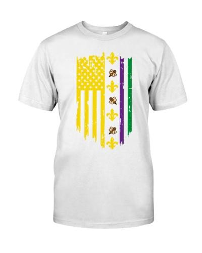 Mardi Gras US Flag Beekeeper