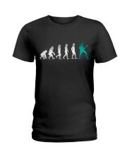 Guitar Player Evolution Ladies T-Shirt thumbnail