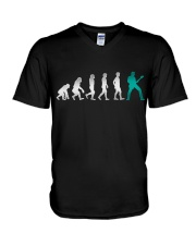 Guitar Player Evolution V-Neck T-Shirt thumbnail