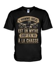 SAUF S'IL VA A LA CHASSE V-Neck T-Shirt thumbnail
