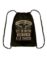 SAUF S'IL VA A LA CHASSE Drawstring Bag thumbnail