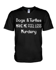 DOGS AND TURTLES V-Neck T-Shirt thumbnail