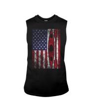 Kayak American Flag  Sleeveless Tee thumbnail