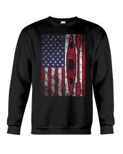 Kayak American Flag  Crewneck Sweatshirt thumbnail