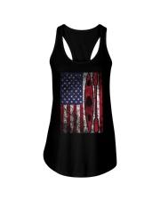 Kayak American Flag  Ladies Flowy Tank thumbnail