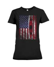 Kayak American Flag  Premium Fit Ladies Tee thumbnail