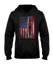 Kayak American Flag  Hooded Sweatshirt thumbnail