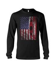 Kayak American Flag  Long Sleeve Tee thumbnail