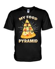 PIZZA PYRAMID V-Neck T-Shirt thumbnail
