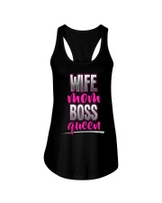Wife Mom Boss Queen Ladies Flowy Tank thumbnail