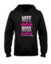 Wife Mom Boss Queen Hooded Sweatshirt thumbnail