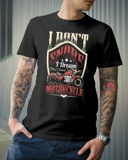 Motorcycle I don't snore Premium Fit Mens Tee lifestyle-mens-crewneck-front-6