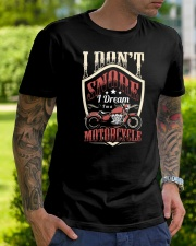 Motorcycle I don't snore Premium Fit Mens Tee lifestyle-mens-crewneck-front-7
