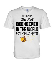 Probably The Best Beekeeper V-Neck T-Shirt thumbnail