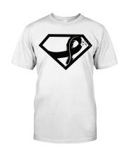 Melanoma Awareness Ribbon Classic T-Shirt front