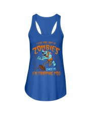 Zombies chase us  Ladies Flowy Tank thumbnail
