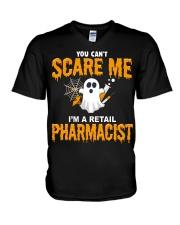 Retail Pharmacist Halloween  V-Neck T-Shirt thumbnail