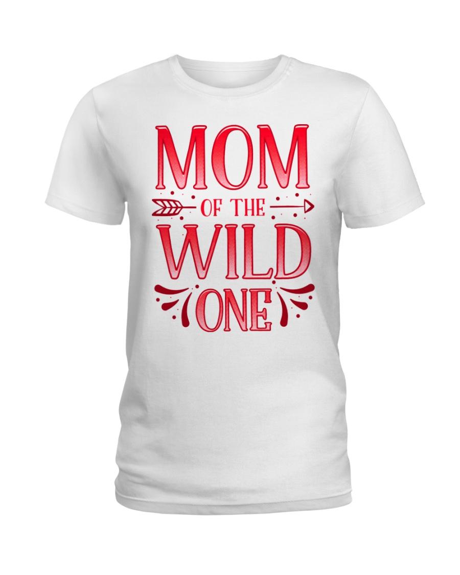 Mom of the Wild One Shirt Plaid Lumberjack  Ladies T-Shirt