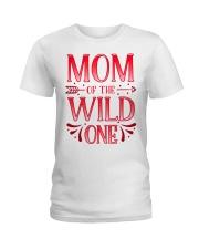 Mom of the Wild One Shirt Plaid Lumberjack  Ladies T-Shirt front
