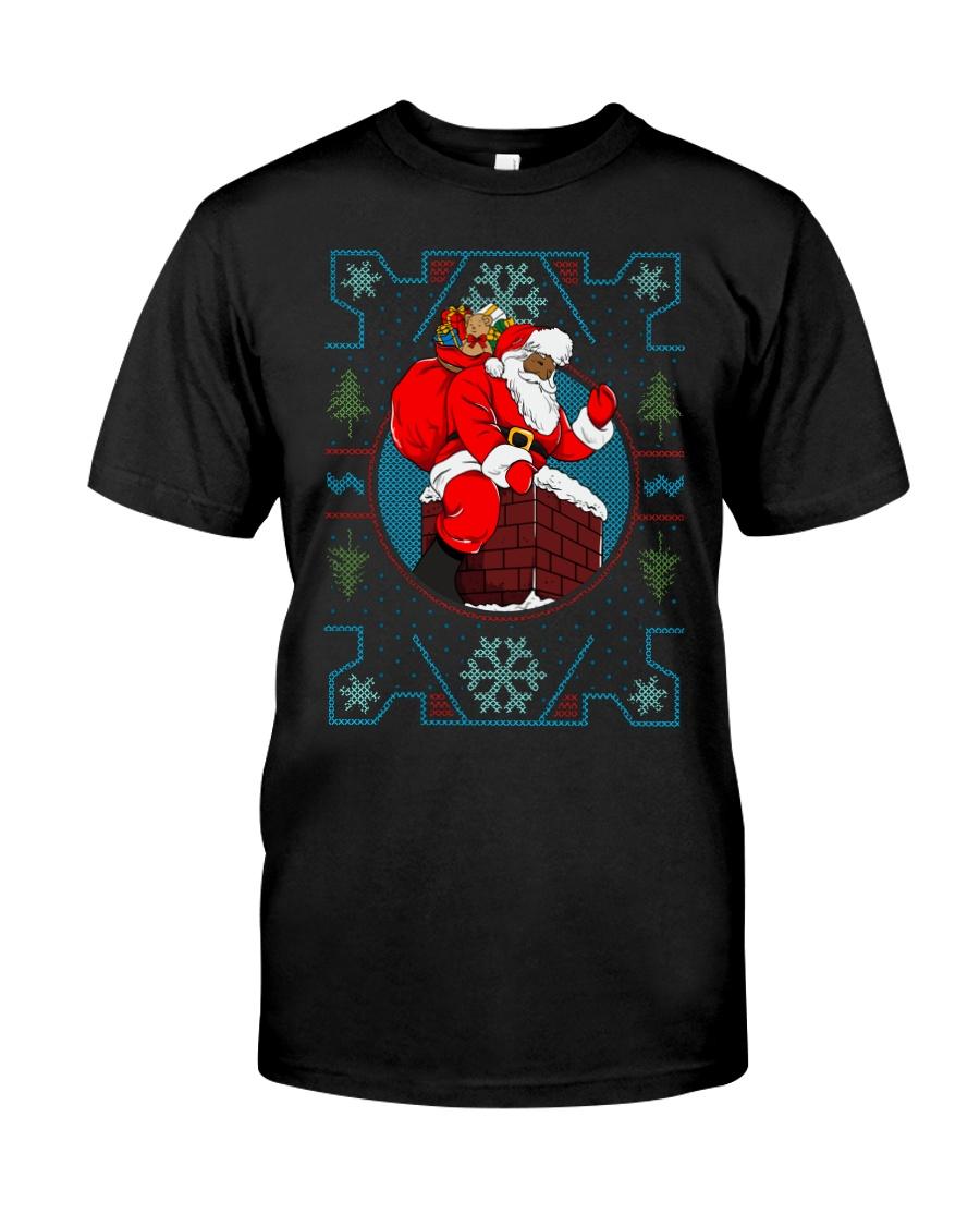 Santa Ugly Christmas Premium Fit Mens Tee