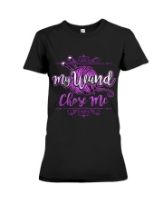 KNITTING-My wand chose me Premium Fit Ladies Tee tile