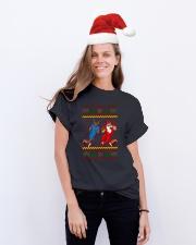 Football Santa team Classic T-Shirt lifestyle-holiday-crewneck-front-1