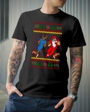 Football Santa team Classic T-Shirt lifestyle-mens-crewneck-front-6