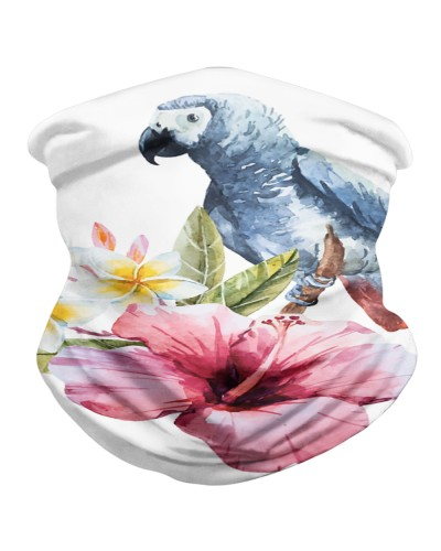 Hibiscus Flower And Parrot