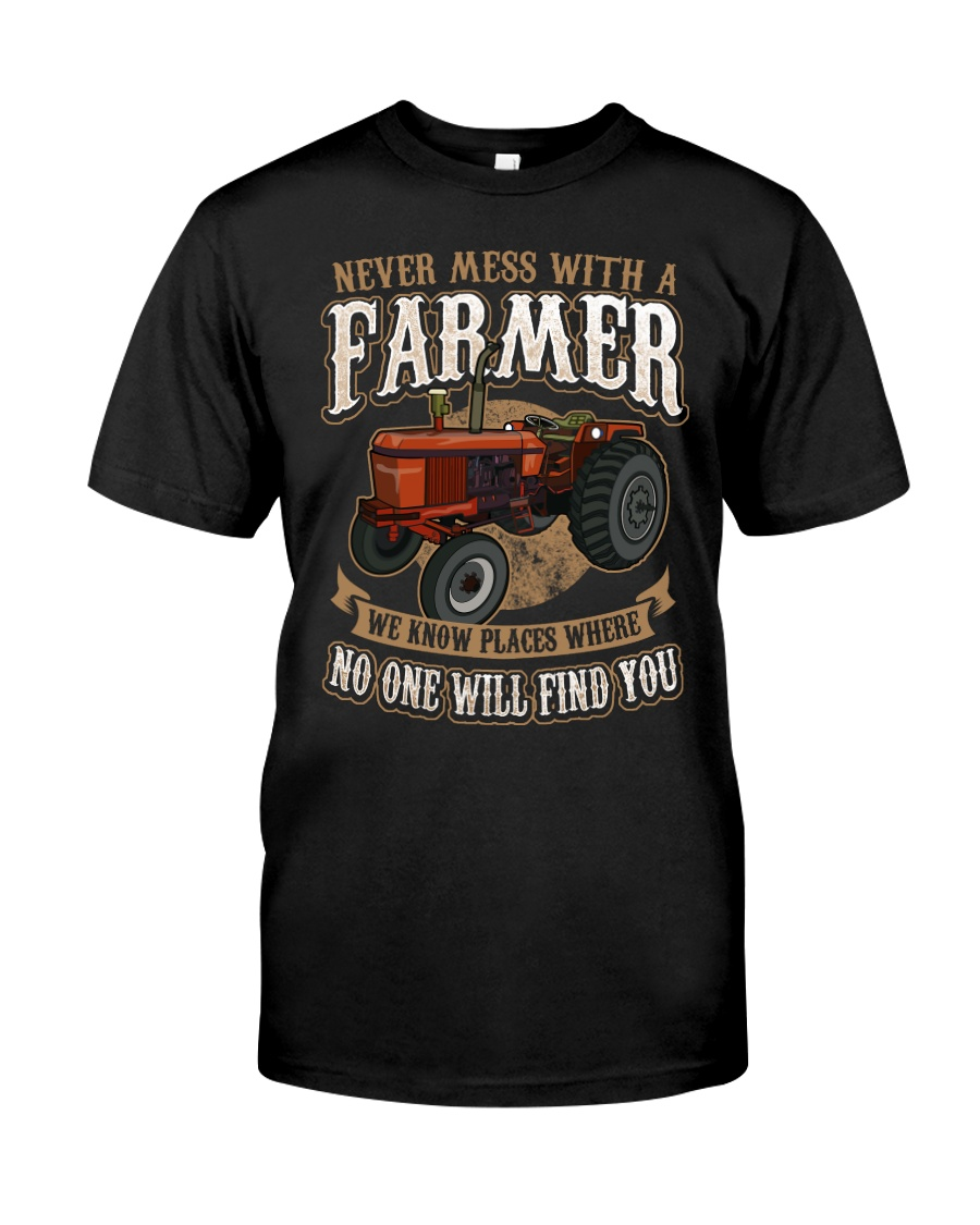 Never Mess With A Farmer Premium Fit Mens Tee