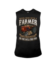 Never Mess With A Farmer Sleeveless Tee front